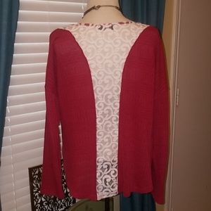 Burgundy Tunic with Lace back
